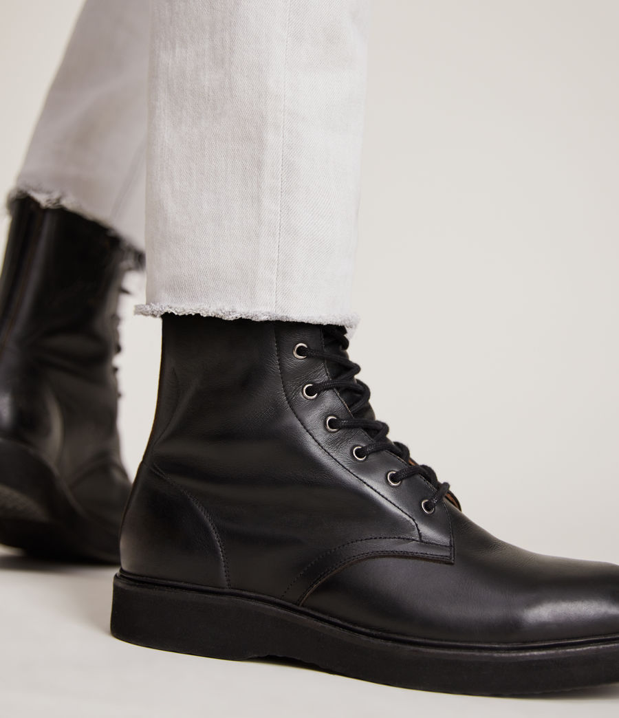 Hommes Shaw Leather Boots (black) - Image 4