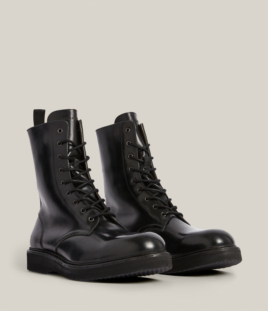 Hommes Shaw Leather Boots (black) - Image 5