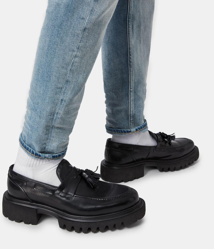 Herren Vine Leather Loafers (black) - Image 2