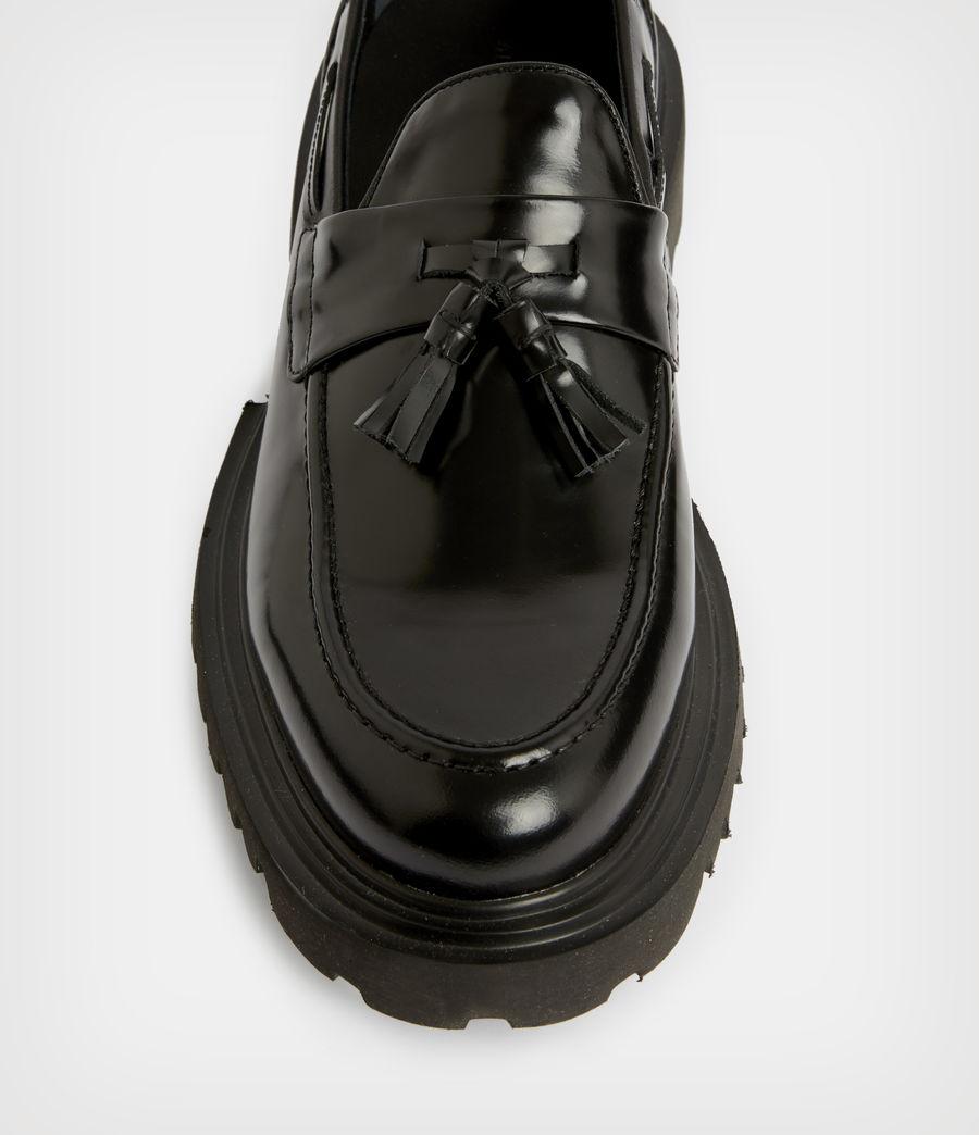 Herren Vine Leather Loafers (black) - Image 3