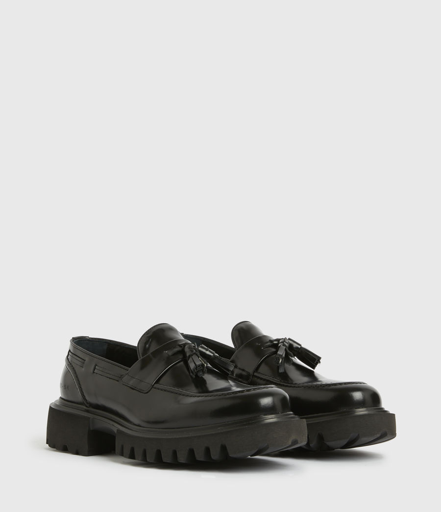 Herren Vine Leather Loafers (black) - Image 4