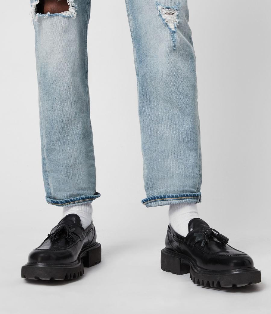 Herren Vine Leather Loafers (black) - Image 7