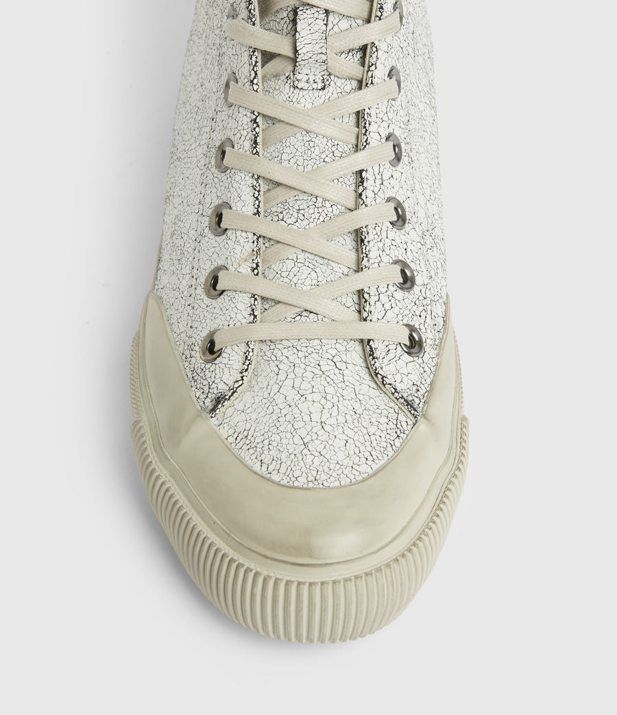 Men's Dumont Crackle High Top Leather Sneakers (chalk_white) - Image 3