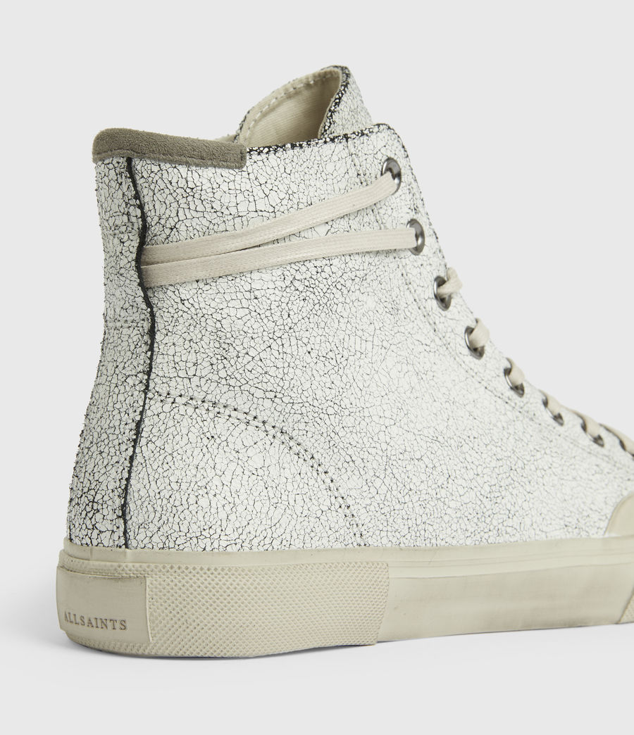 Men's Dumont Crackle High Top Leather Sneakers (chalk_white) - Image 5