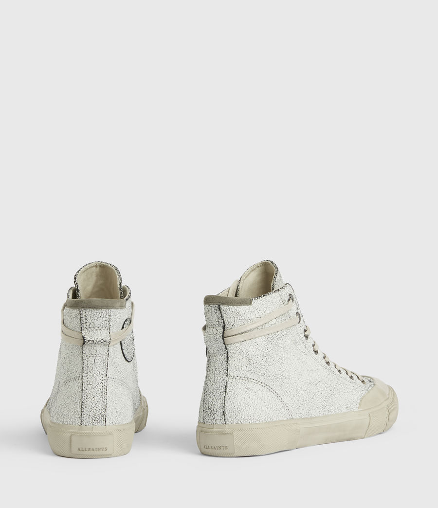 Men's Dumont Crackle High Top Leather Sneakers (chalk_white) - Image 6
