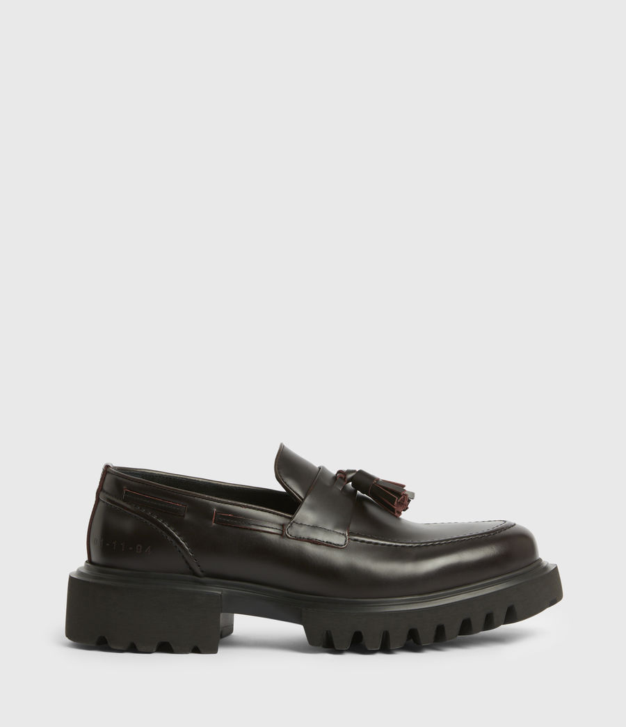 Men's Vine Leather Loafers (burgundy) - Image 1