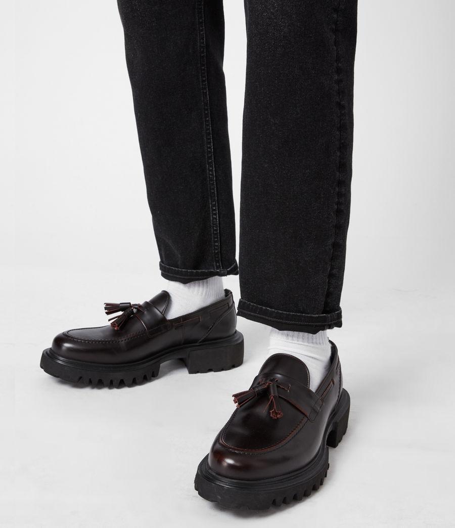 Men's Vine Leather Loafers (burgundy) - Image 2