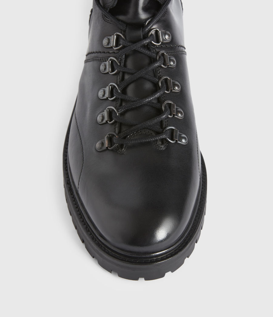 Mens Jaxx Leather Boots (black) - Image 2