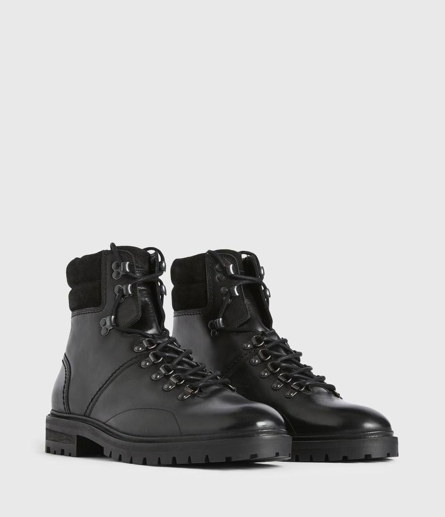 Mens Jaxx Leather Boots (black) - Image 3