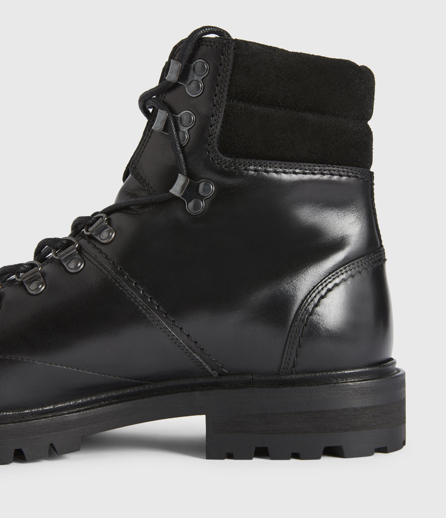 Mens Jaxx Leather Boots (black) - Image 4