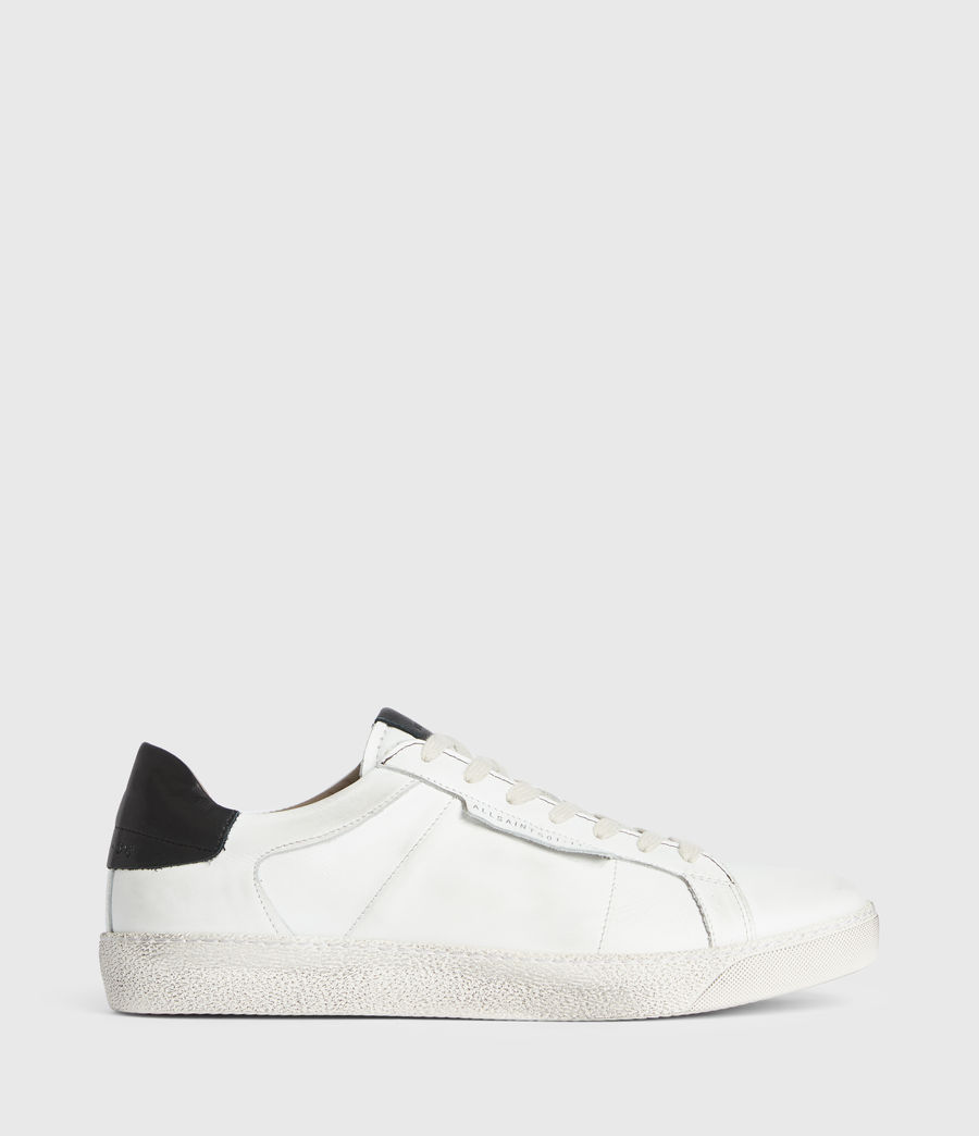 Men's Sheer Low Top Leather Trainers (white) - Image 1