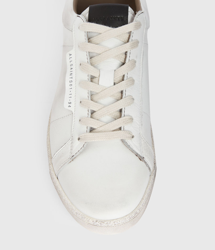 Men's Sheer Low Top Leather Trainers (white) - Image 2