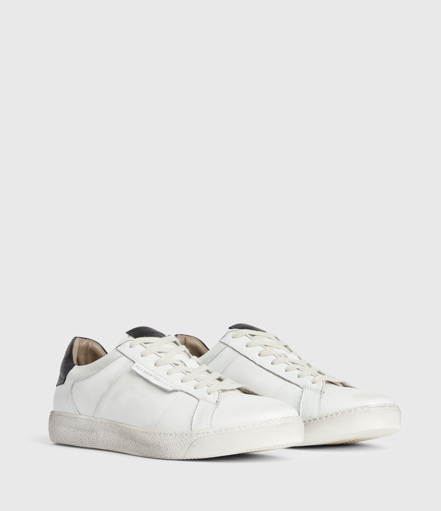 Men's Sheer Low Top Leather Trainers (white) - Image 3
