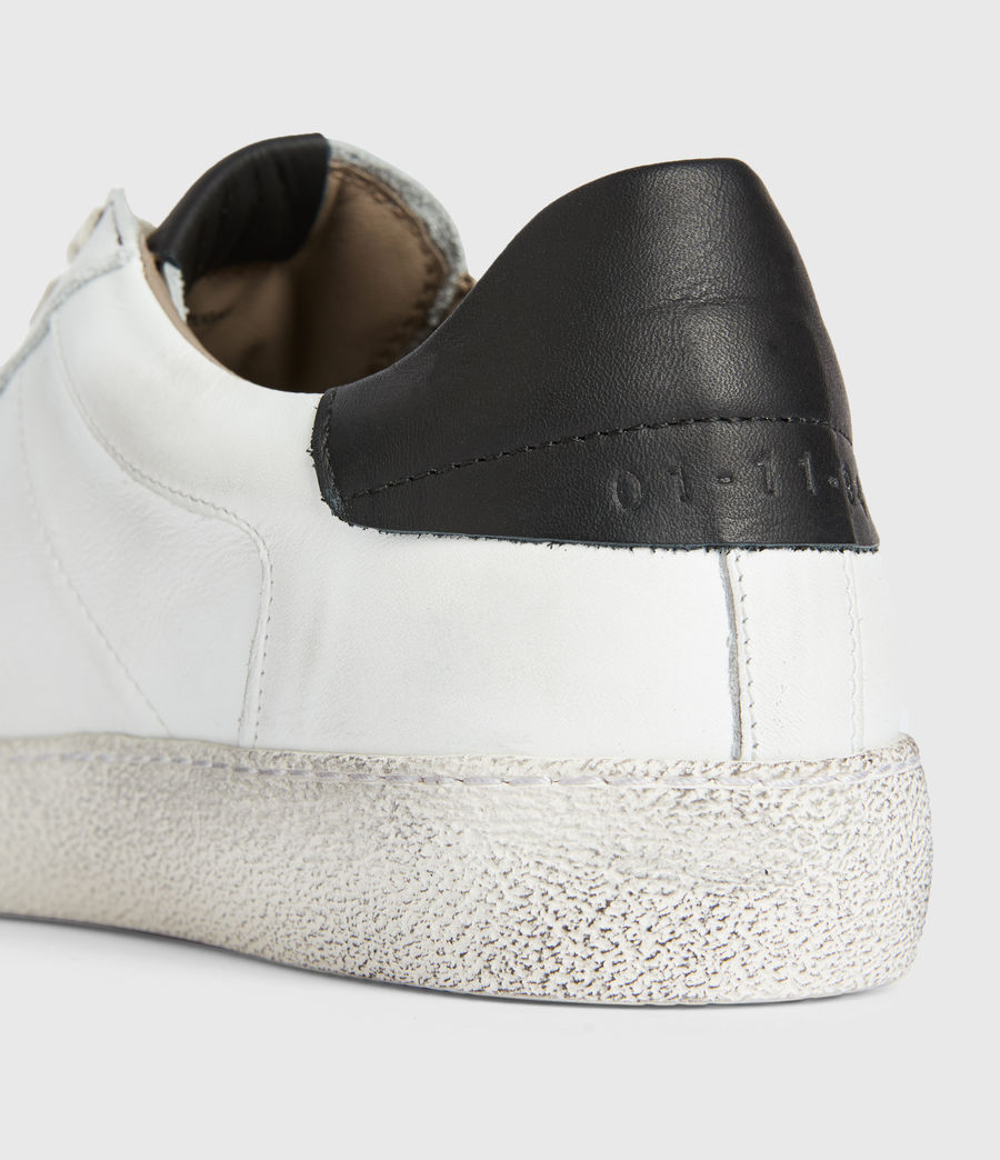 Men's Sheer Low Top Leather Trainers (white) - Image 4