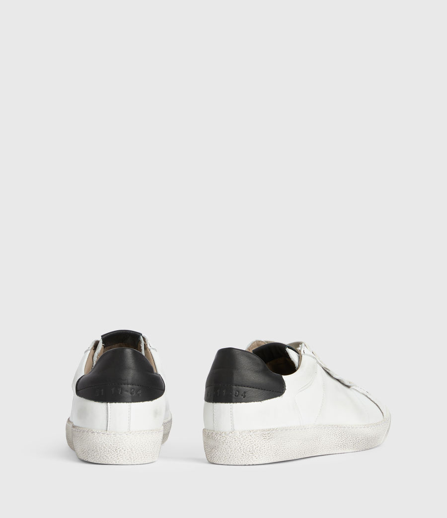 Men's Sheer Low Top Leather Trainers (white) - Image 5