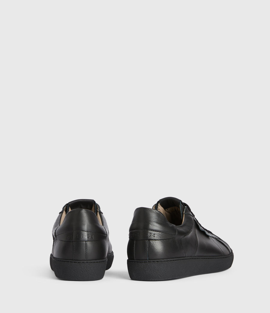 Men's Sheer Low Top Leather Trainers (black) - Image 5