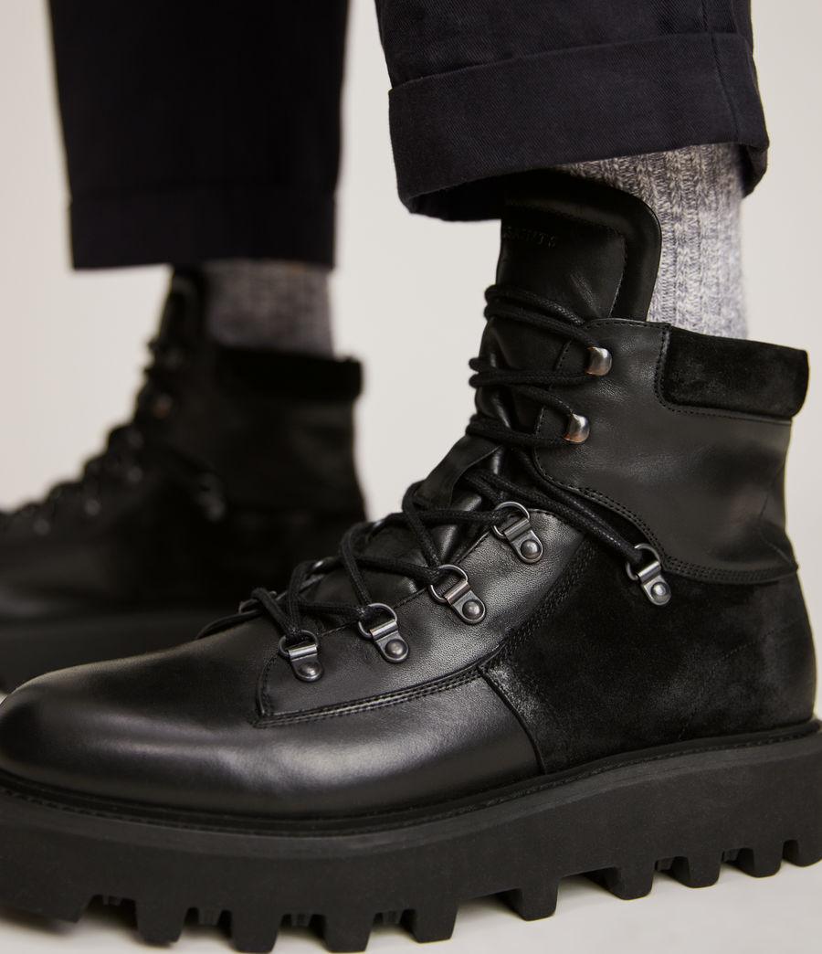 Men's Kai Leather Boots (black) - Image 4