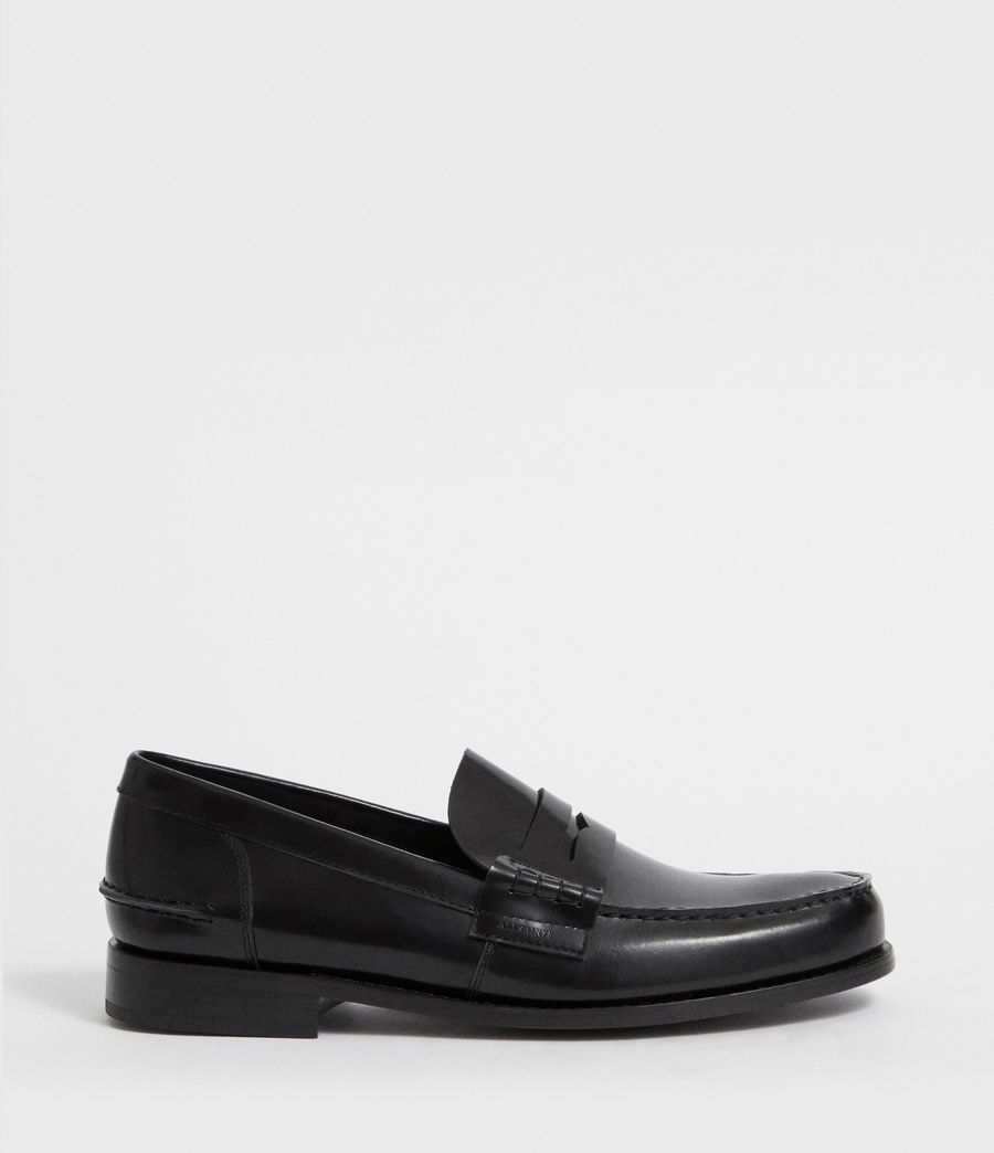 Mens Pelhem Leather Loafers (black) - Image 1