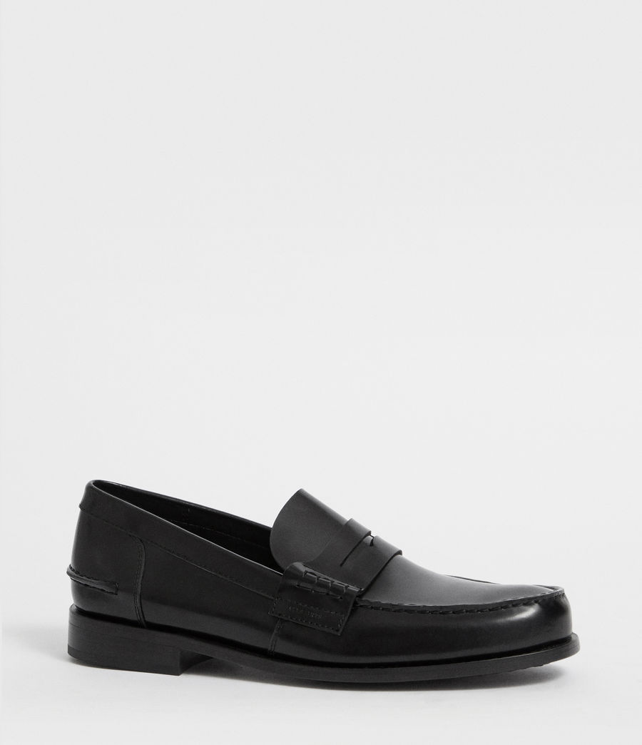 Mens Pelhem Leather Loafers (black) - Image 3