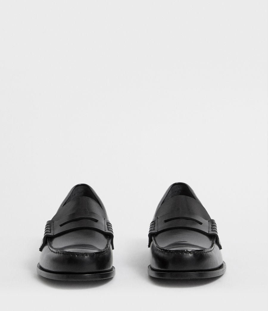 Mens Pelhem Leather Loafers (black) - Image 4