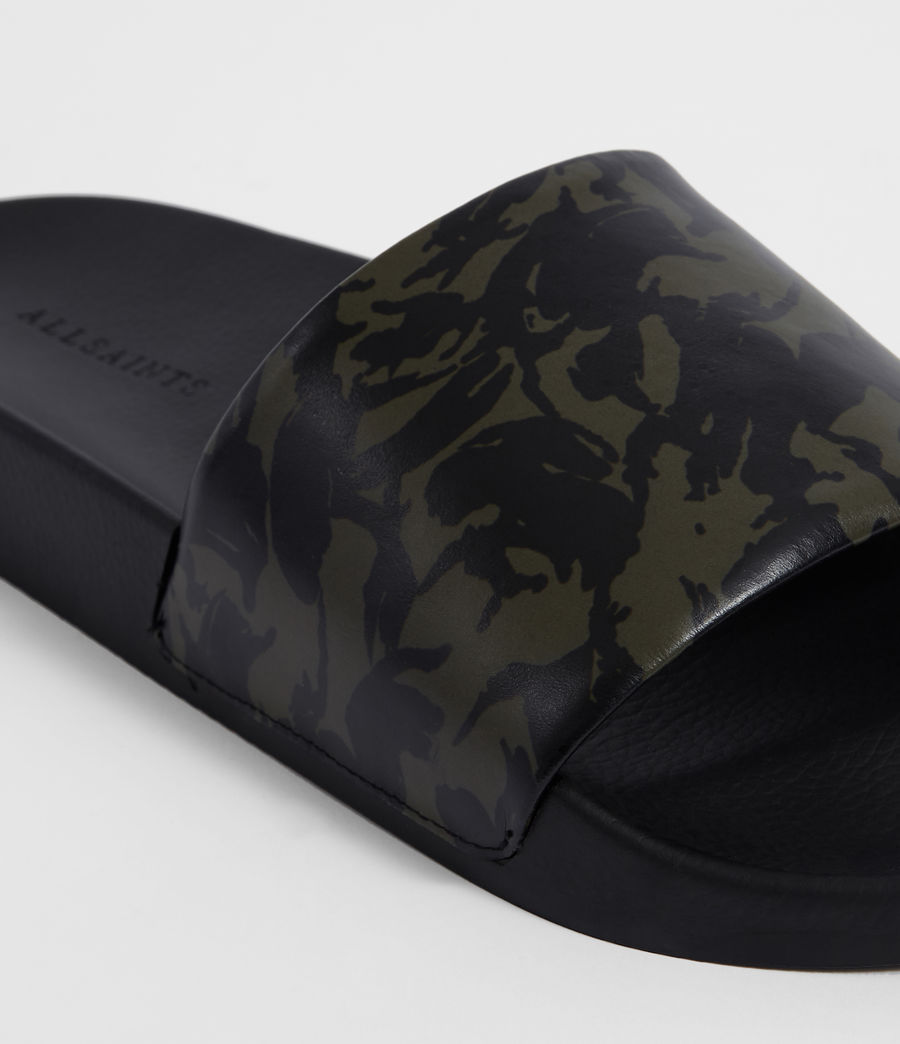 Men's Leo Slides (dark_khaki_black) - Image 3