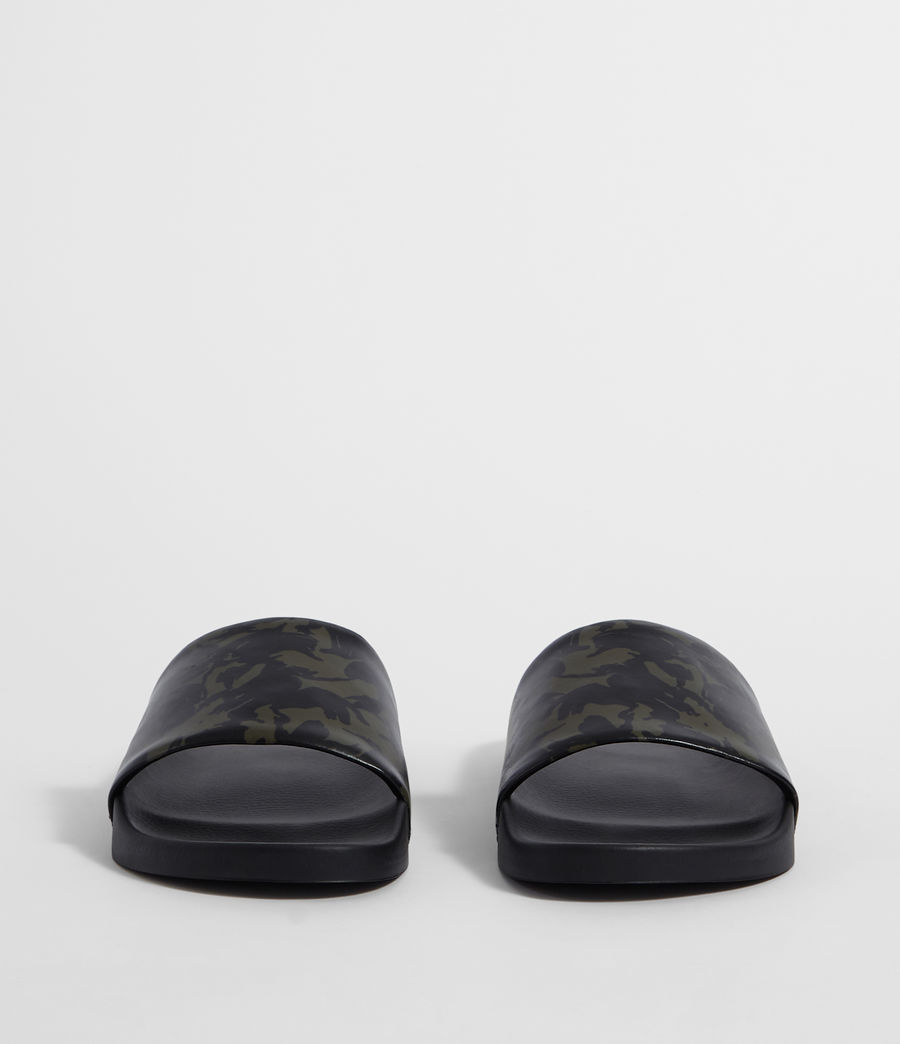 Mens Leo Slides (dark_khaki_black) - Image 4