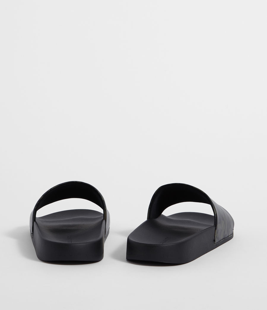 Mens Leo Slides (dark_khaki_black) - Image 5