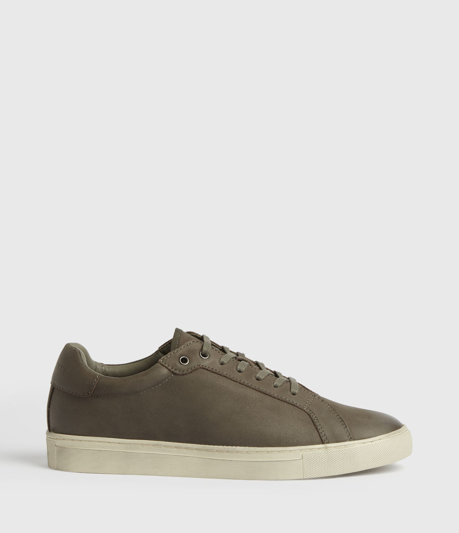 Men's Stow Low Top Leather Trainers (charcoal_grey) - Image 1