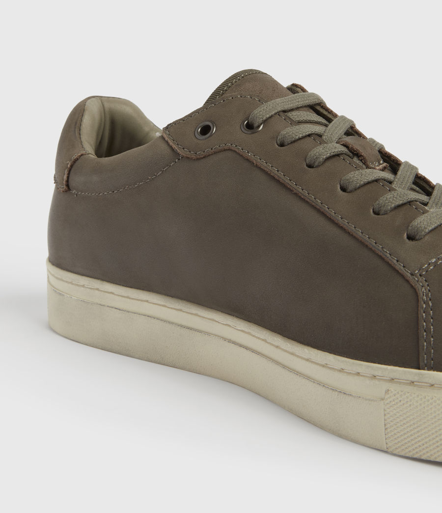 Men's Stow Low Top Leather Trainers (charcoal_grey) - Image 4