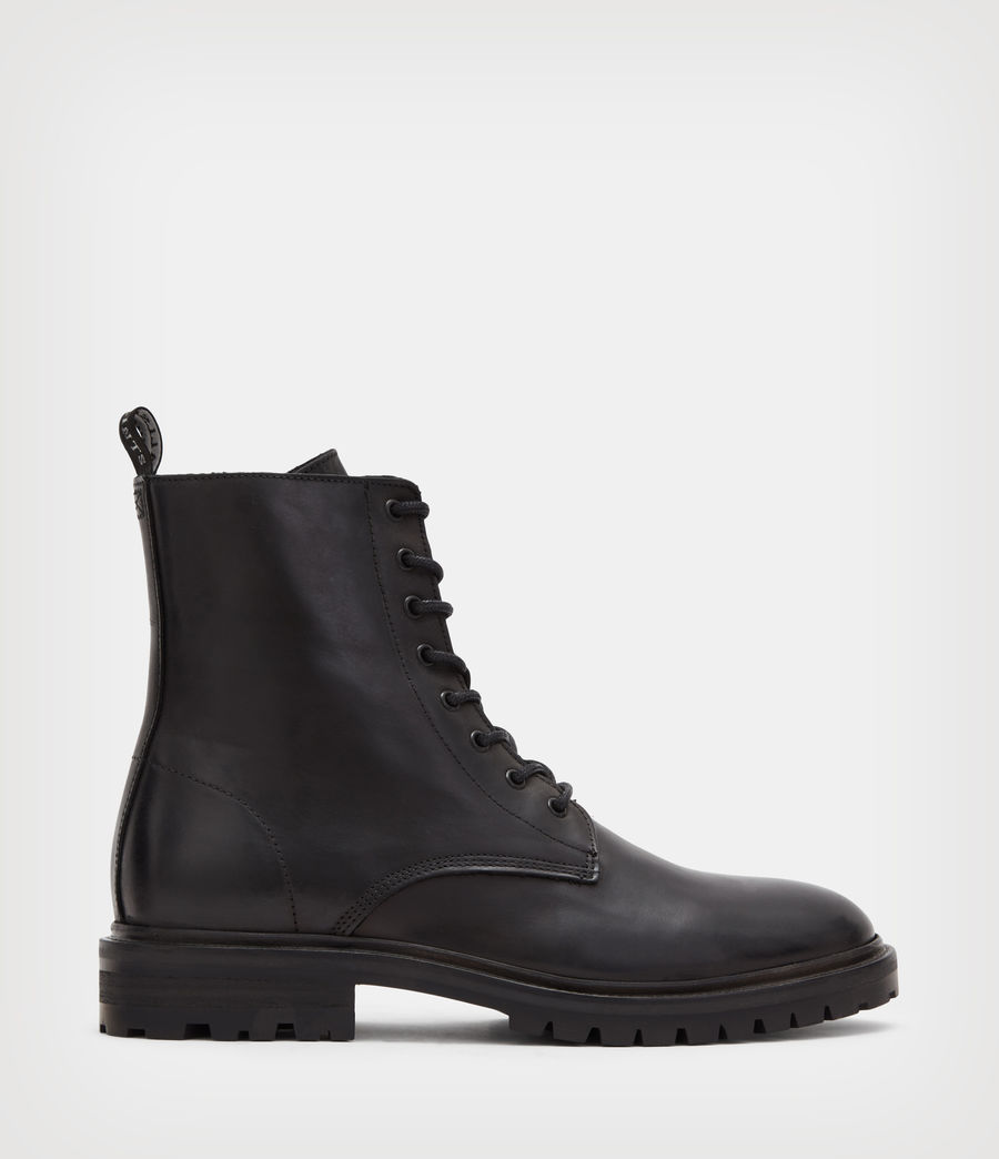 Mens Tobias Leather Boots (black) - Image 1