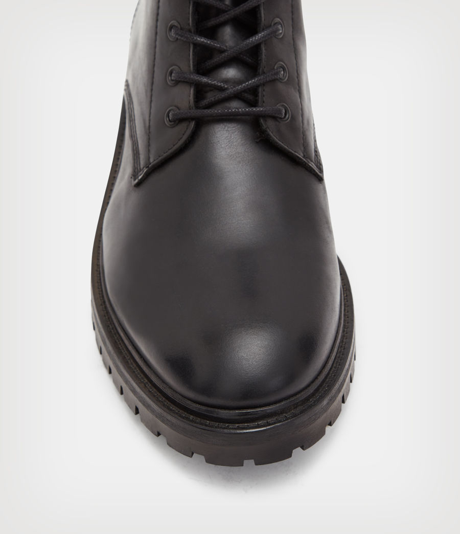 Mens Tobias Leather Boots (black) - Image 2