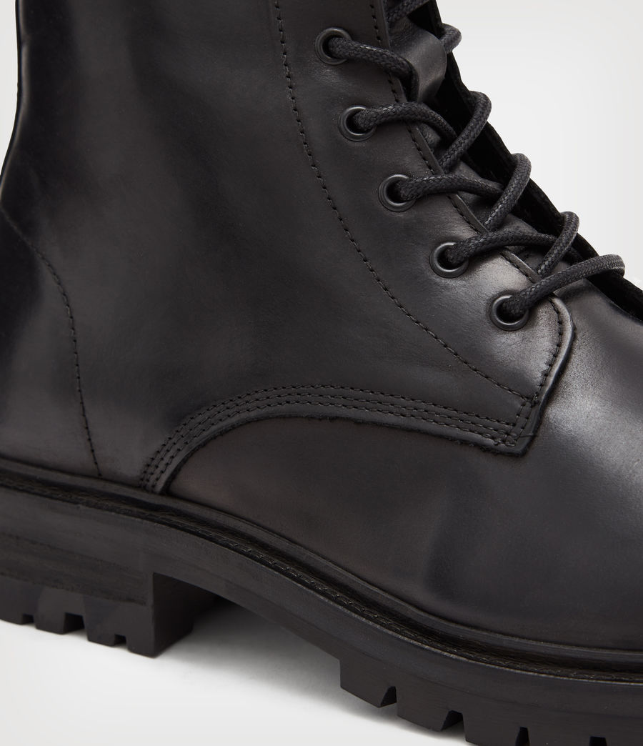 Mens Tobias Leather Boots (black) - Image 4