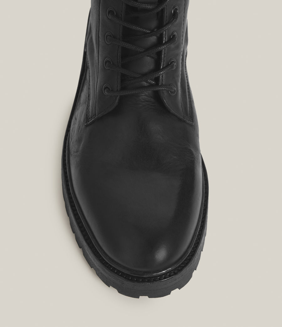Mens Tobias Leather Boots (black) - Image 5