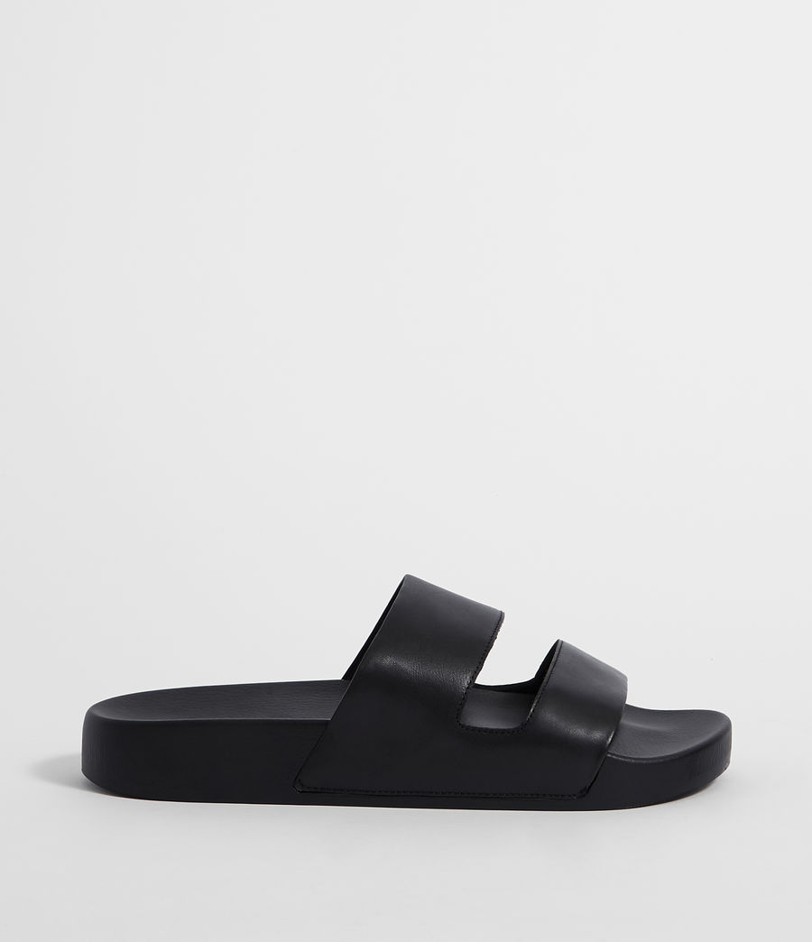 Men's Duo Strap Slides (black) - Image 1