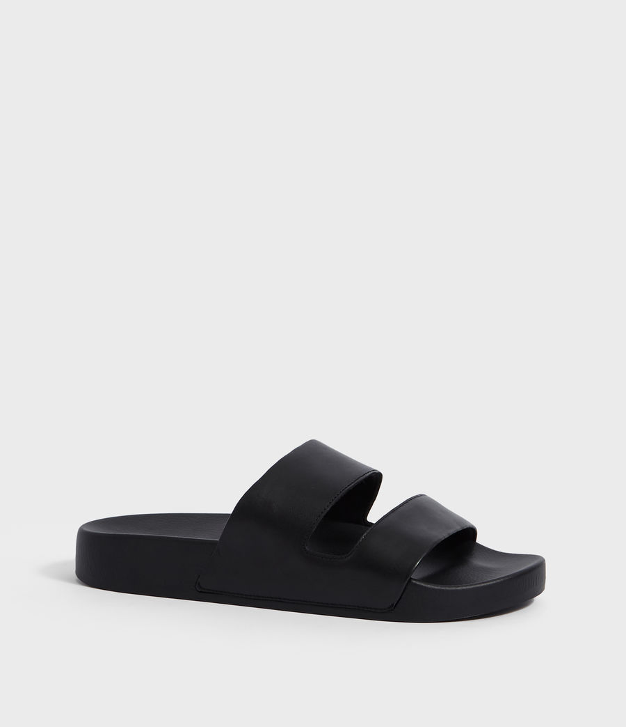 Men's Duo Strap Slides (black) - Image 2