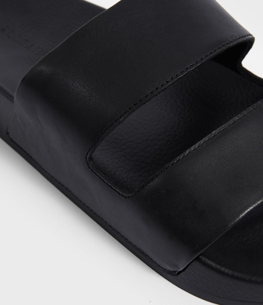 Men's Duo Strap Slides (black) - Image 3