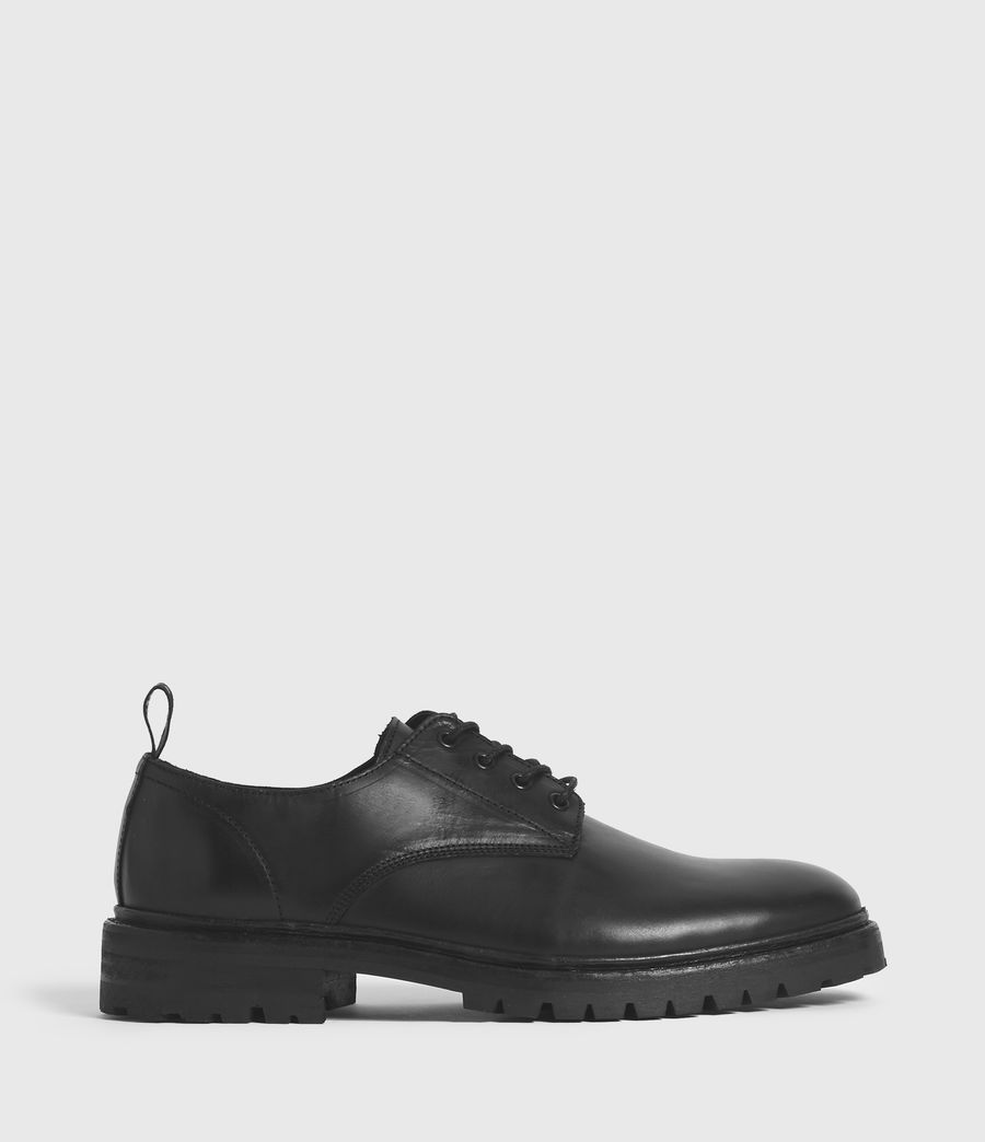 Hombres Tor Leather Lace Up Shoes (black) - Image 1