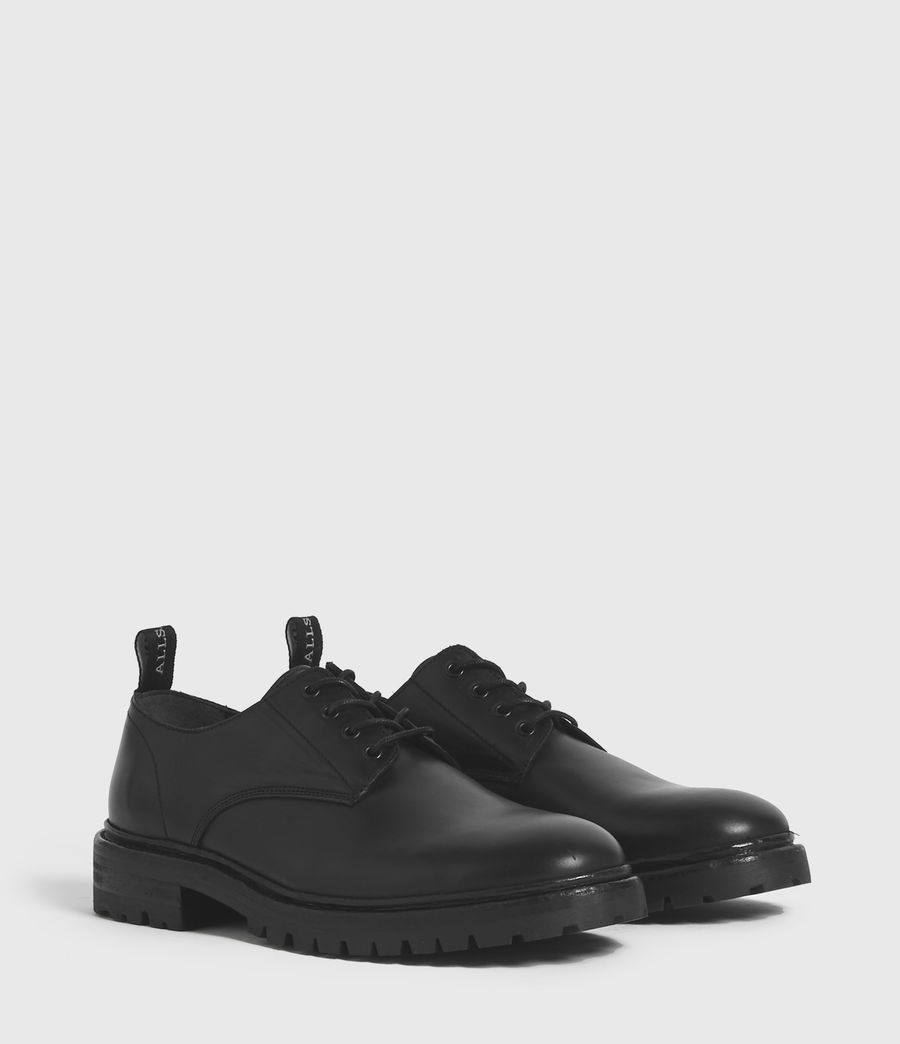 Hombres Tor Leather Lace Up Shoes (black) - Image 3