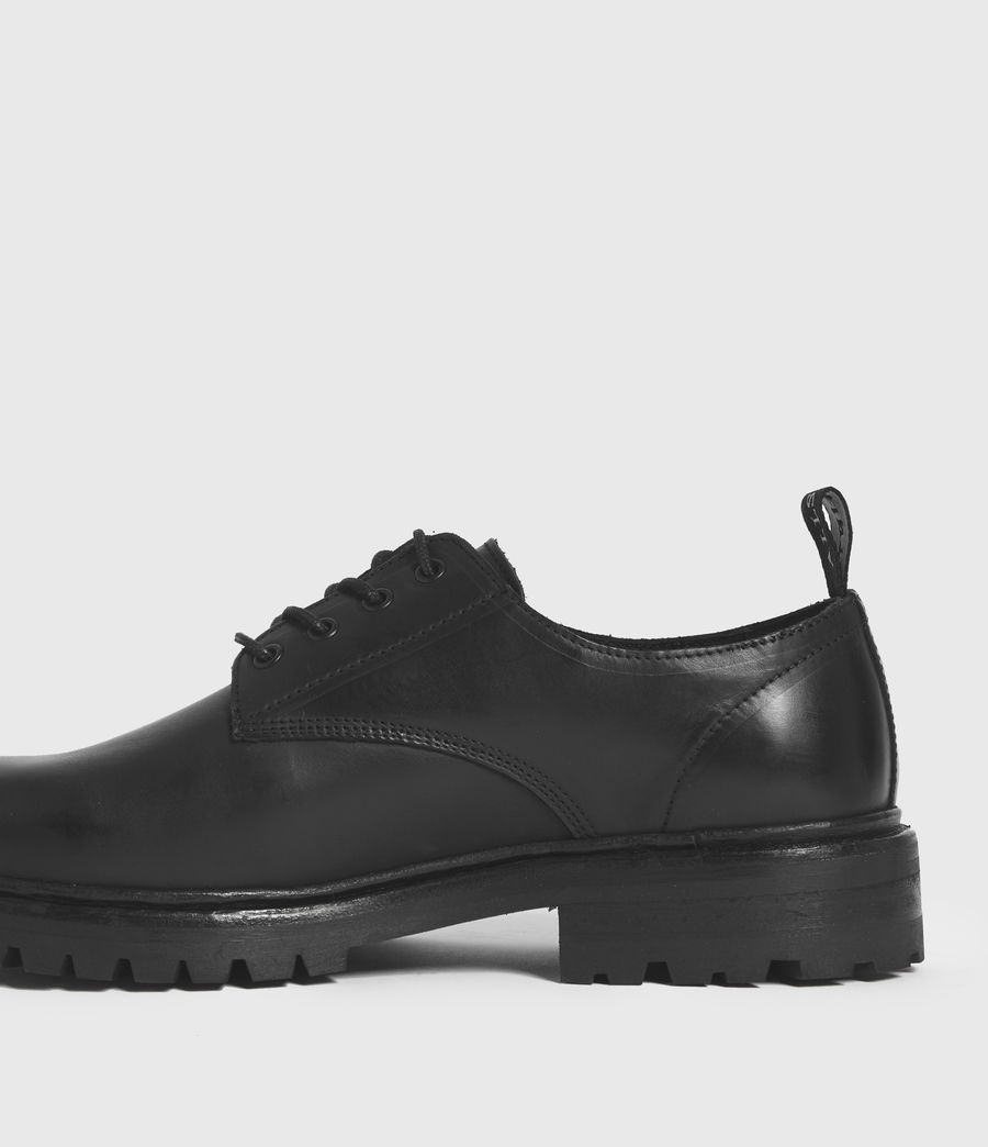 Hombres Tor Leather Lace Up Shoes (black) - Image 5