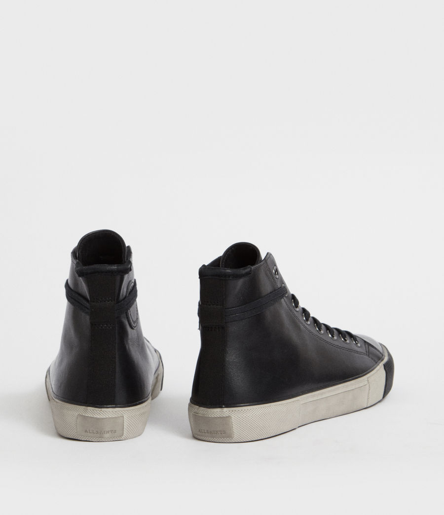 Men's Osun Leather Hightop Trainer (black) - Image 5