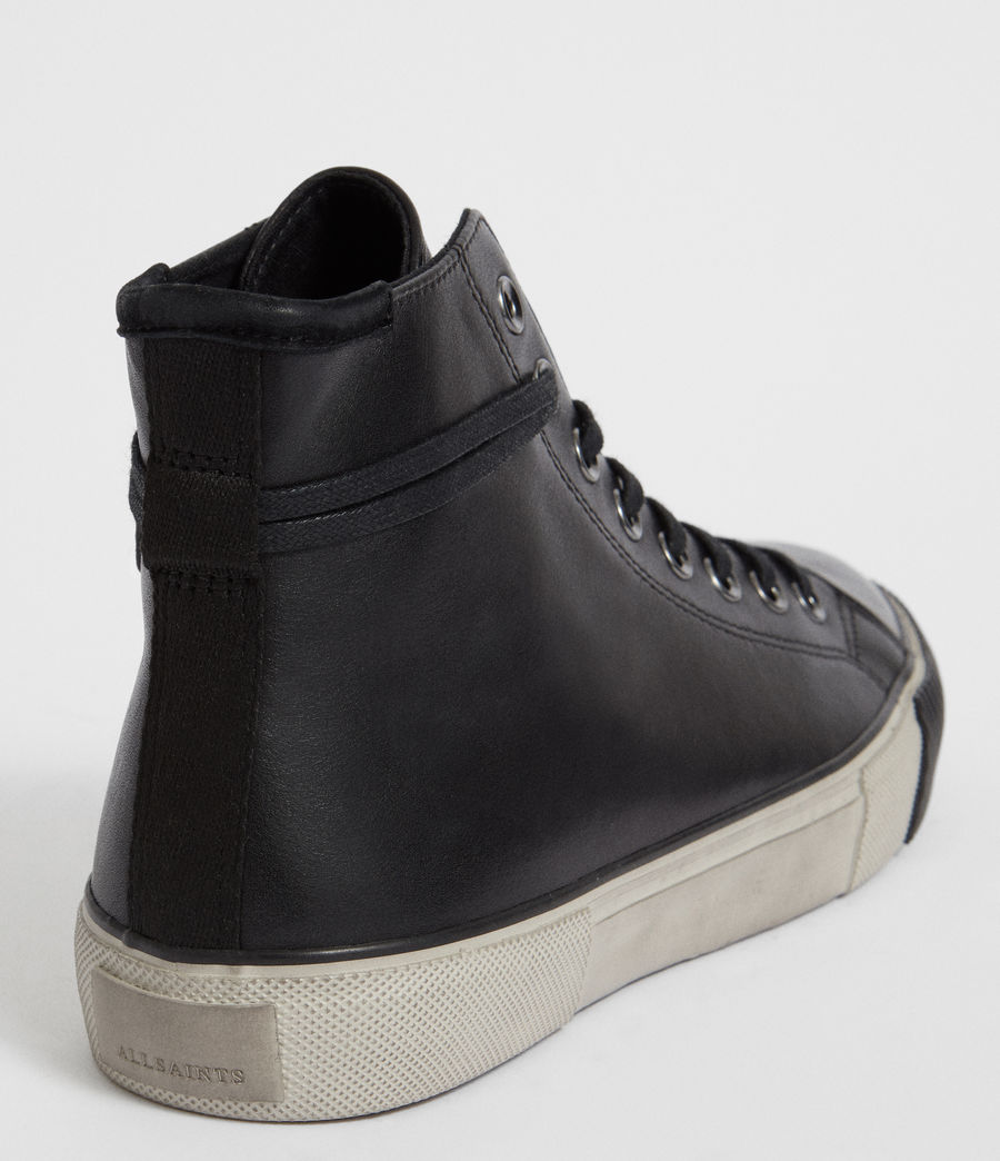 Men's Osun Leather Hightop Trainer (black) - Image 6