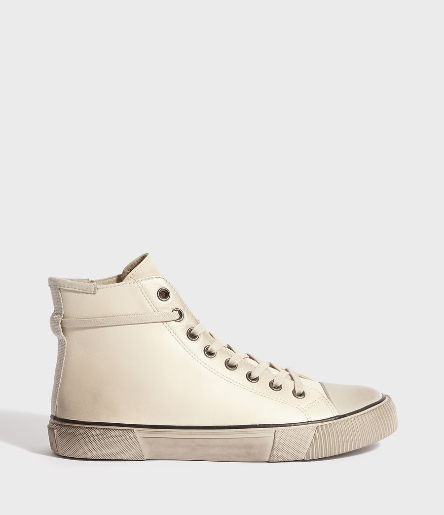 Mens Osun High Top Leather Sneakers (chalk) - Image 1