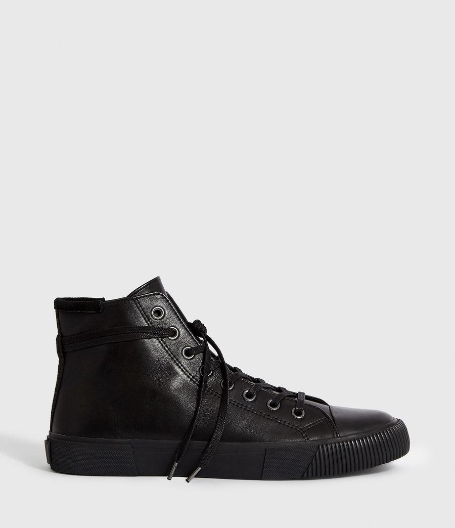 Men's Osun Leather Hightop Trainer (black) - Image 1