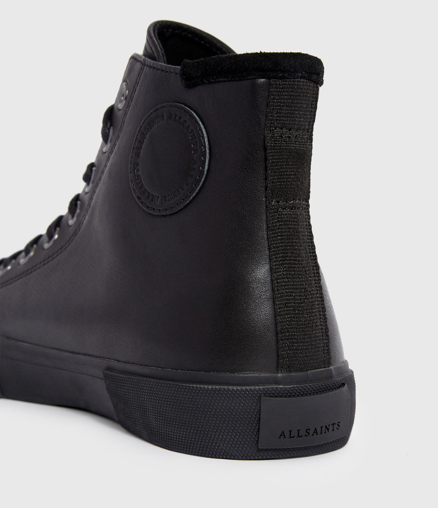 Men's Osun Leather Hightop Trainer (black) - Image 2