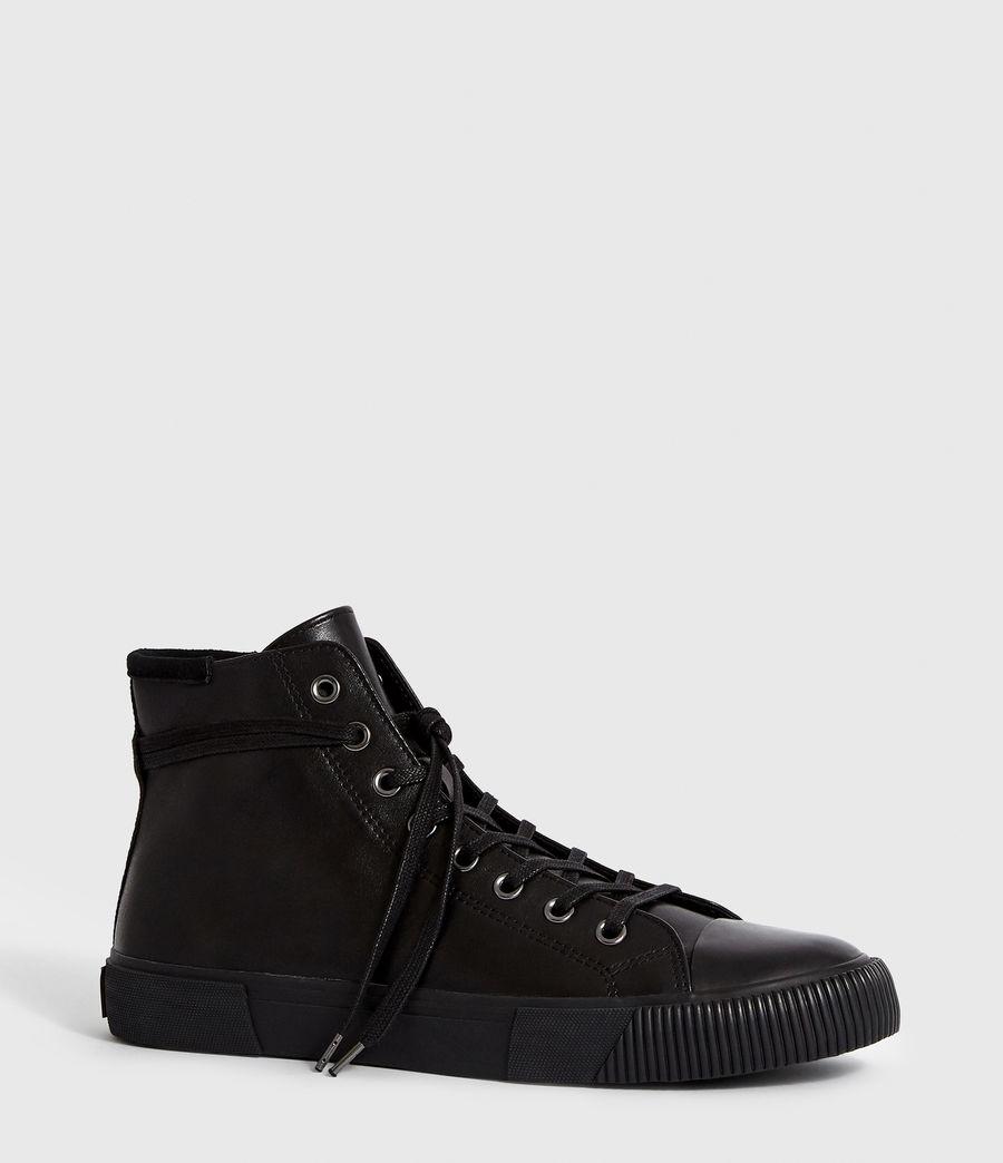 Men's Osun Leather Hightop Trainer (black) - Image 3