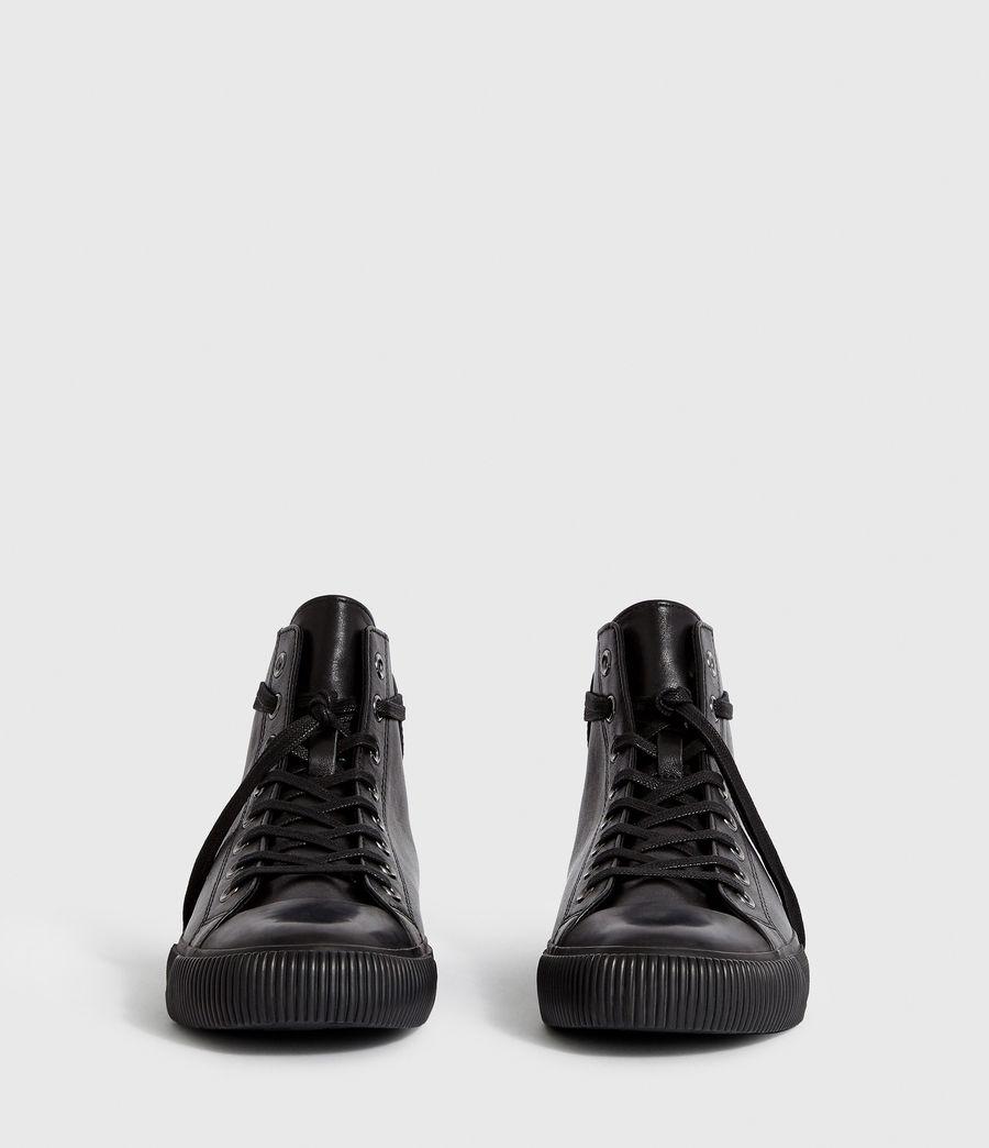 Men's Osun Leather Hightop Trainer (black) - Image 4