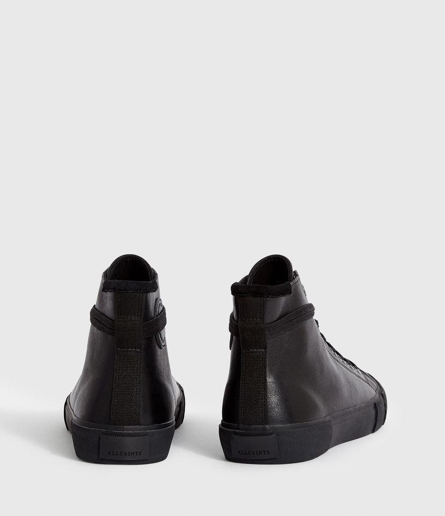 Men's Osun Leather Hightop Trainer (black) - Image 5
