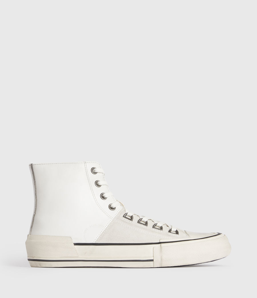 Men's Waylon High Top Leather Trainers (off_white) - Image 1
