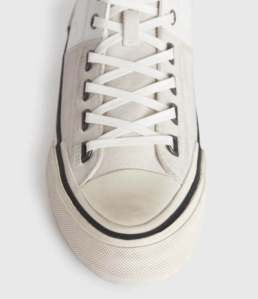 Men's Waylon High Top Leather Trainers (off_white) - Image 2