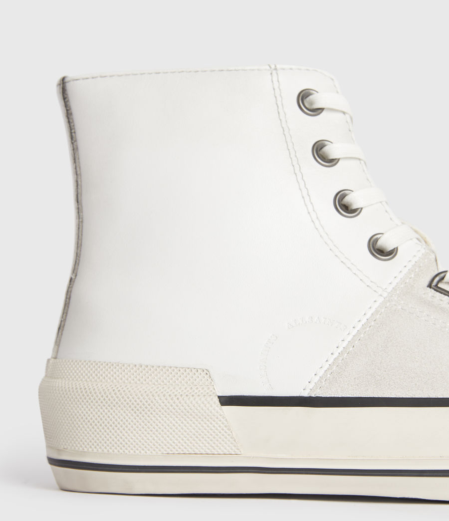Men's Waylon High Top Leather Trainers (off_white) - Image 4